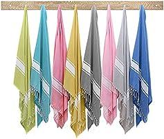 Twinzen - Fouta XXL 100x200cm - 100% Cotton OEKO-TEX - Beach Drap, Hamam Towel - Sauna