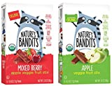Nature's Bandits Organic Fruit & Veggie Stix, Variety Pack (Mixed Berry & Apple), 0.6 Ounce 5 Pack...