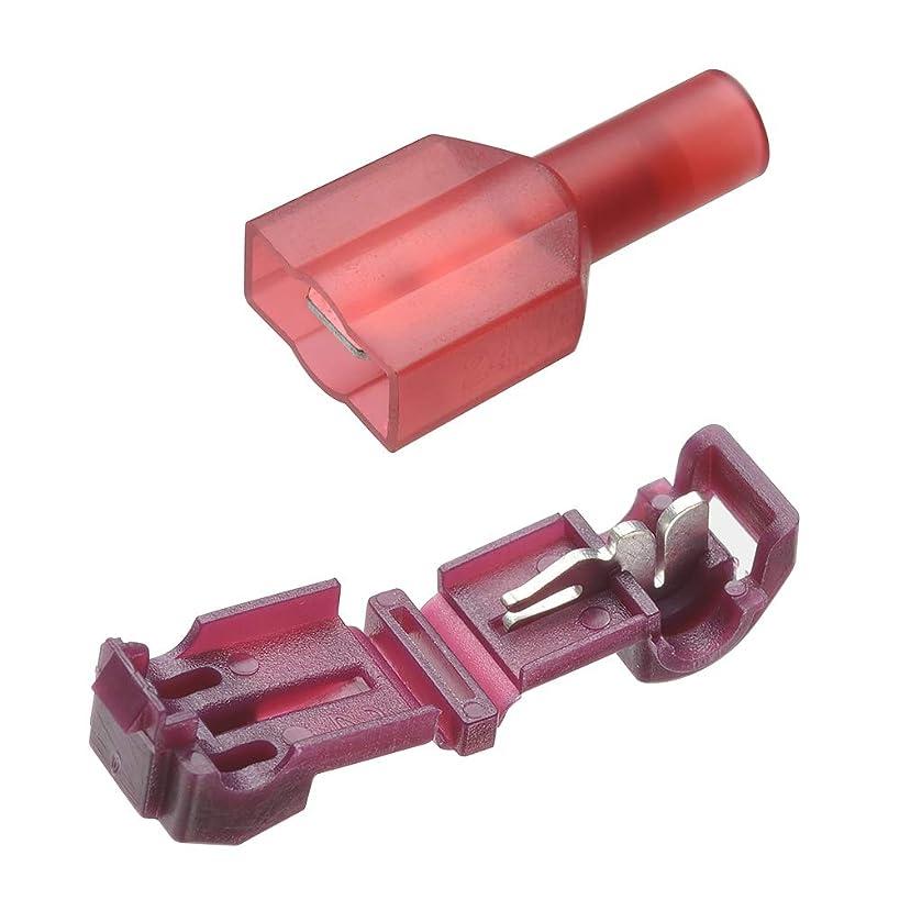 感性メトリック急降下(STRAIGHT/ストレート) T型配線コネクターキット 10セット レッド 35-0153
