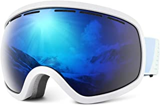 HUBO SPORTS Ski Snow Goggles for Men Women & Youth, OTG Dual Lens Anti Fog UV400 Protection