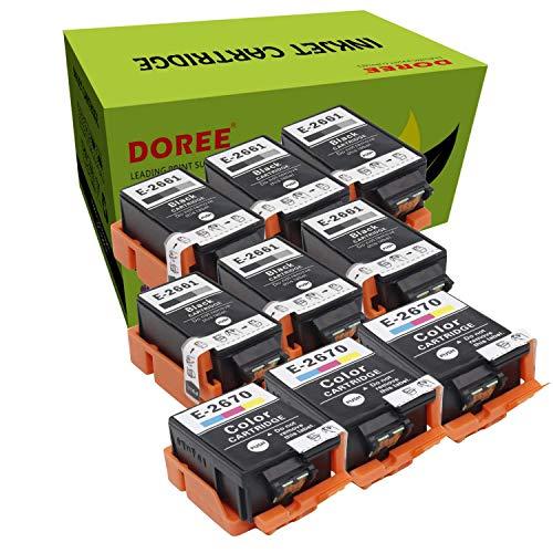 Doree T2661/2670 para Epson WorkForce WF-100W, WF 100 (W), WF100, WF100W (6 negro y 3 colores)