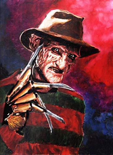 GYYDCZ 5D DIY Diamond Painting Kit Horror Movie Character Freddy Krueger Crystal Rhinestone Cross Stitch Mosaic Artwork Wall Decoration Painting. 40x50cm