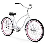 Firmstrong Chief Lady Single Speed Beach Cruiser Bicycle, 26-Inch, Light Blue