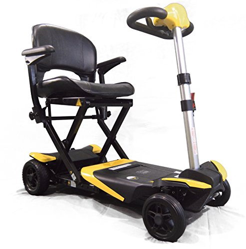 Read About Transformer Electric Folding Mobility Scooter (Yellow) by Solax