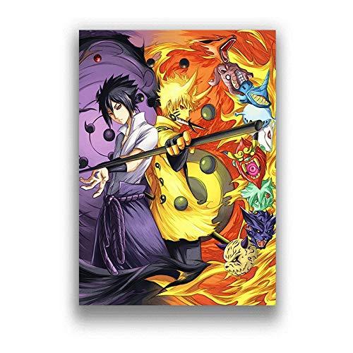 Puzzle 1000 Piezas Dibujos Animados Anime Naruto Art Deco Imagen Puzzle 1000 Piezas Animales Juego de Habilidad para Toda la Familia, Colorido Juego de ubicación.50x75cm(20x30inch)