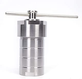 Autoclave Reactor, 100ml Hydrothermal Synthesis Autoclave Reactor 230℃ 3Mpa with PTFE Liner 49mm Diameter
