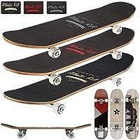 Deuba Skateboard - diseño - ABEC 7 Atlantic Rift - Amortiguador de PU + PU de los rodamientos de Ruedas de selección de Colour Naranja