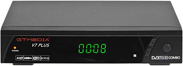 GTMEDIA V7PLUS HD Free to air Satellite Receiver FTA DVB-S2/T2 Built-in Galaxy 19 Digital..