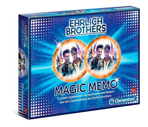 Clementoni 59179 Ehrlich Brothers Magic Memo, magisches Memory-Spiel, 36 Kartenpaare mit spektakulären Motiven, für Magiebegeisterte und Kinder ab 5 Jahren