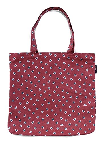 J Crew - 14.5'x15.5' - Printed Reusable Grocery Tote Bag (Red/White Stars)
