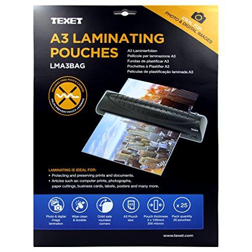 Texet Pochette à plastifier A3 250 microns Lot de 100 (Import Royaume Uni)