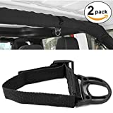 YOCTM Roll Bar Coat Hanger Clothes Hook for Jeep Wrangler JL TJ JK JLU Sports Sahara Freedom Rubicon X & Unlimited 2007-2017 2018 2019 2020 2021 Black Interior Parts Accessories (Pack of 2) (Black)