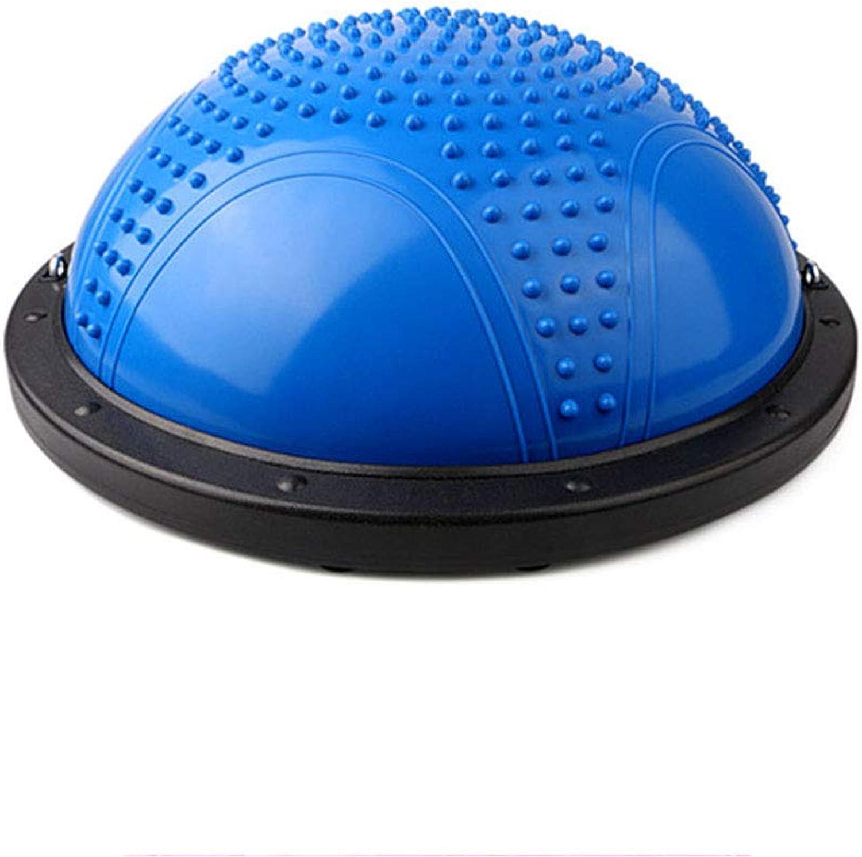 FAN Balance-Trainingsball Yoga Balance-Massageball Enthlt Fitness-Schmiedewiderstand und Luftpumpe, Blau
