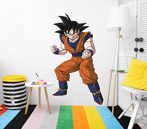 Vinilo de Pared Tamaño Real Dragon Ball Z Goku Producto Oficial   87x150 cm  Vinilo para...