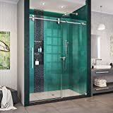 Model Size: 50-54 in. W x 76 in. H; Walk-In Opening: 19-23 in.; Hardware: Brushed Stainless Steel Premium 3/8 in. (10 mm) thick certified tempered glass; DreamLine exclusive ClearMax water and stain resistant glass coating ATTENTION! Offers NO adjust...