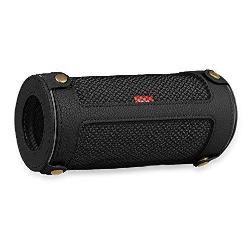 Fintie, JBL Flip 3, draagbare luidspreker, hoes, afdekking, hoogwaardig kunstleer, beschermhoes, tas, case met karabijnhaak voor JBL Flip3, draagbare luidspreker, zwart