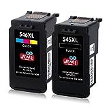 JIMIGO 545XL 546XL Cartouches Remplacer pour Pour Canon PG-545 CL-546 Encre Compatible avec Canon...