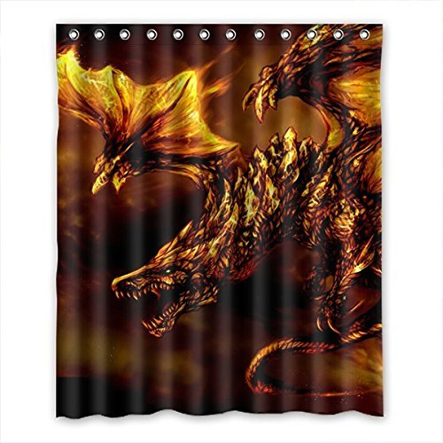 Crazy Ants Brauch Drache-Muster Dragon Pattern Wasserdichtes Gewebe Bad Duschvorhang Polyester Shower Curtain 152cm x 183cm(60