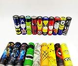 10 Stück 18650 Batterie Sleeves/Wraps authentische vorgeschnittene Bateriehülse, 29 mm Schrumpfschlauch, Hitze schrumpfen Replacement Batterie Schrumpfen, Zufälliges Design und Farbe