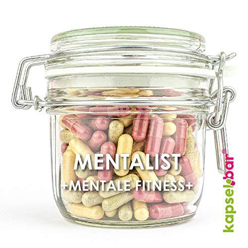Cápsulas MENTALIST I 180 Cápsulas I Natural Booster para concentración & memoria I 100% vegana I Vitamina B12, piridoxina & Niacina I sin cafeína I sin aditivos animales