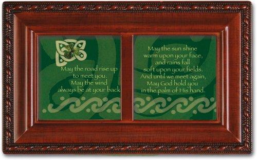 Cottage Garden Irish Road Petite Woodgrain Music Box Plays Irish Eyes