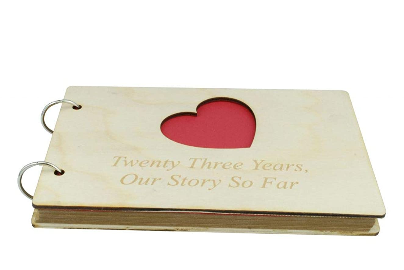 23 Year Anniversary Wooden Scrapbook – Perfect for Your Wife or Girlfriend