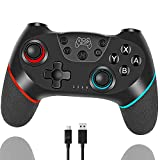 Tanouve Mando Compatible con Nintendo Switch, Controlador Inalámbrico Compatible con NitendoSwitch Pro/PC Gamepad...