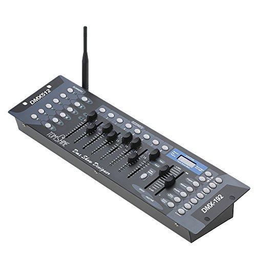 Tomshine 192 Kanäle DMX 512 Steuerpult,Lichtsteuerung,DMX Controller,Drahtlos DMX Konsole,DJ Betreiber Equippment für Bühnen Lampe,Moving Head,DJ,Club,Party