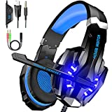 BENGOO G9000 Gaming Headset Over Ear Headphone with Mic and LED Light