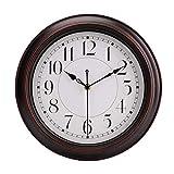 Reloj de pared redondo, de estilo clásico retro, de cuarzo, reloj decorativo sin tictac 30cm Adecuado para Decorar Sala, Dormitorio, Oficina - Alimentado por Batería