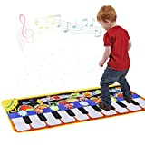 Lianter Piano Music Mat, Keyboard Play Mat Music Dance Mat with 19 Keys Piano Mat, 8 Selectable Musical Instruments Build-in Speaker & Recording Function for Kids Girls Boys, 43.3'' x14.2''