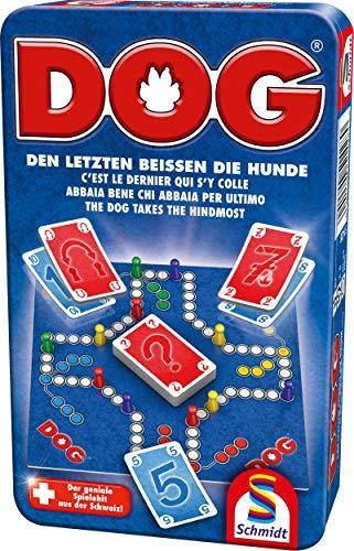 Schmidt Spiele 51428 Dog, Bring Mich mit Spiel in der Metalldose, bunt