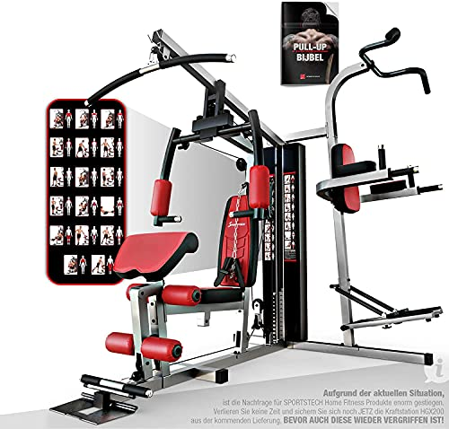 Sportstech Premium 50in1 Multi Gym for a ONE Allround Training   Multifunctional Workout Station   Stepper & LAT Pulling Tower   HGX Fitness Station   Eva material   Extremely Sturdy