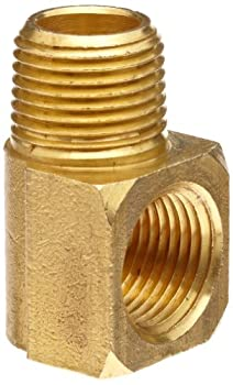 Anderson Metals 56116-04 Brass Pipe Fitting 90 Degree Barstock Street Elbow 1/4  Male Pipe x 1/4  Female Pipe