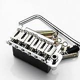 musoo ダブル トレモロ エレキギター6弦 ボードダブル ブリッジ ステンレス サドル&ブロック BS184