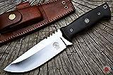 Bobcat Custom Handmade Hunting Knife with Genuine Leather Sheath