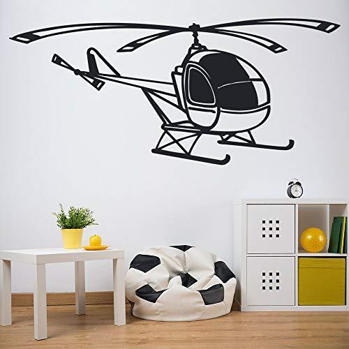 wZUN Flugzeug Wandtattoos Cartoon Hubschrauber Transport Wandbild Vinyl Aufkleber Kinderzimmer Kinderzimmer Dekoration 42X93cm
