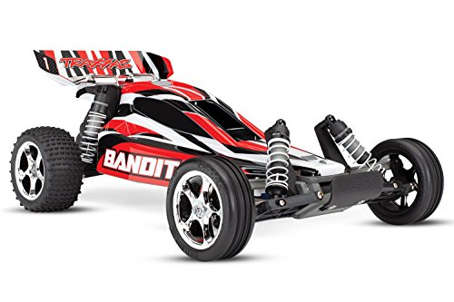 Traxxas Bandit: 1/10 Scale 2WD Off-Road Buggy with TQ 2.4ghz Radio System, Red