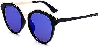 Kainuoo 男性の女性のための小さな丸いサングラスは、運転のための偏光サングラスをきれいにします (Color : A)