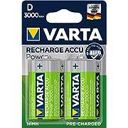 Varta - Piles rechargeables Ni-Mh (2-Pack, 3000 mAh) - pré-chargées