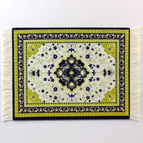 Alfombrilla de ratón persa estilo alfombra de goma antideslizante duradera de impresión rectangular para juegos de ratón, alfombrilla de ordenador o tableta