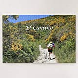 Jigsaw Puzzles 500 Pieces For Adults Large Piece Puzzle El Camino De Santiago De Compostela Spain Trail Wooden Intellectual Jigsaw Puzzle Fun Challenging Family Game Toys Gift Wall Decoration