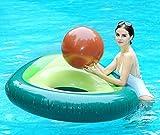 Global Tronics Gonflable Avocat Géant avec Balle d'eau 165cm, Flotte Bouée Bouee Licorne Flamingo Jouets De Piscine Matela avec des Valves Rapides Lit Flottant Piscine pour Enfant et Adulte