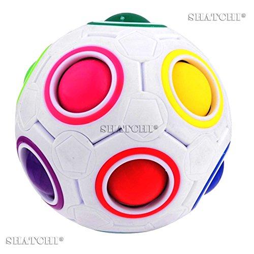Shatchi 11014-FIDGET-BALL-10 stuks verjaardagscadeaus, grappige magische regenboog-puzzel, dobbelsteen, educatief speelgoed, bulk, veelkleurig