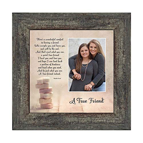 Crossroads Home Décor A True Friend, Personalized Picture Frame for Your Forever Best Friend, 6312BW