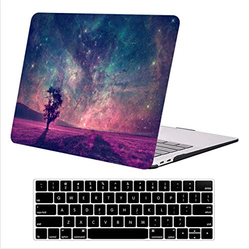 AUSMIX Newest MacBook Pro 13 inch Case 2020 2019 2018 2017 2016 Release Model:A2289 A2251 A2159 A1989 A1706 & A1708,Plastic Hard Shell Case with Keyboard Skin Cover for Apple Mac Pro 13,Starry sky