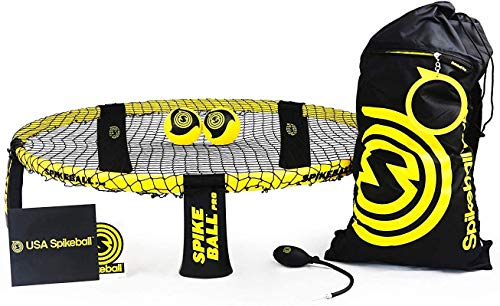 Spikeball Pro Kit (Tournament Edition) - Includes Upgraded Stronger Playing Net, New Balls Designed to Add Spin, Portable Ball Pump Gauge, Backpack