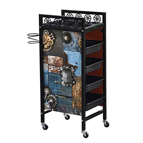 MEI XU Chariots De Stockage Trolley - Tool Car Salon de beauté Poussette Support Barber Shop Chariot multi-outils Chariots Utilitaires (Couleur : B, taille : 35 * 30 * 81cm)