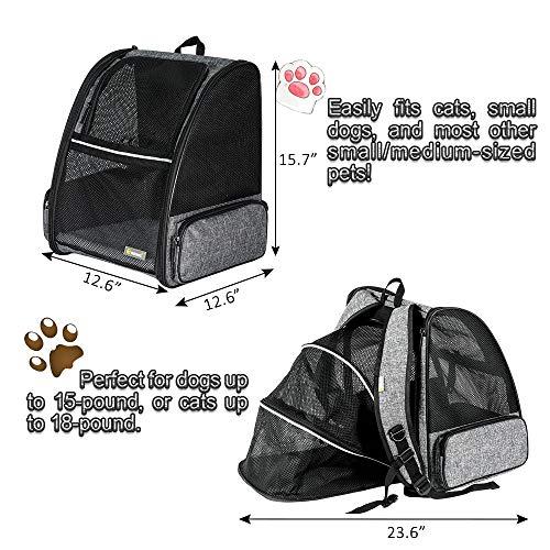 Texsens Pet Expandable Backpack...