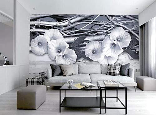 Tapete 3D Wandbild Ikea Simple Morning Glory Fashion Ästhetik Fototapete 3D Effekt Vliestapete Wohnzimmer Wanddeko